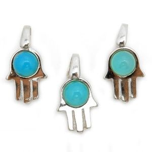 Jewelry - $ not firm Soon! Hamsa Hand w/Blue Chalcedony